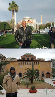 Which one is Hagia Sophia? Trick question! Turkey (above) and Greece (below)