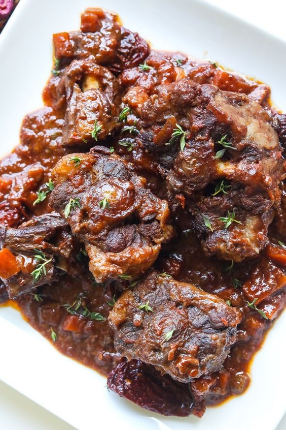 Red Wine and Chipotle Braised Oxtails