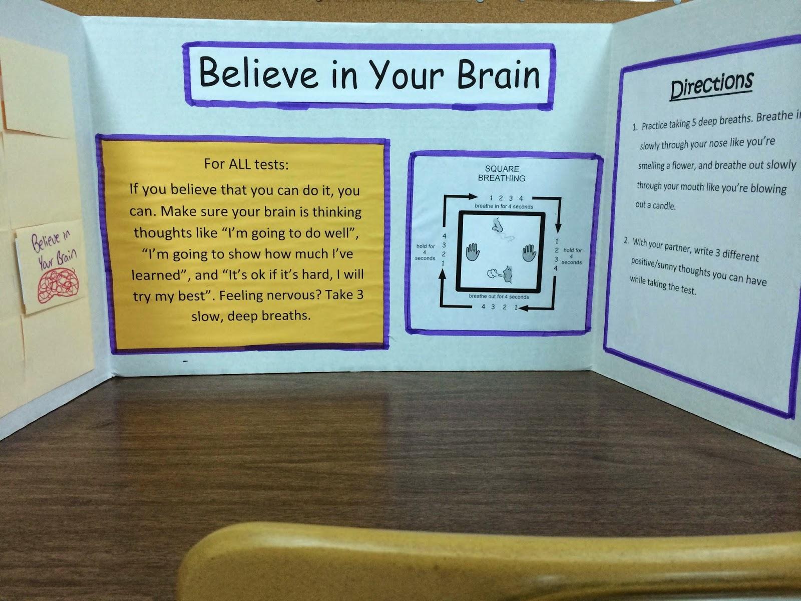 Teacher made Test taking skills activity center example