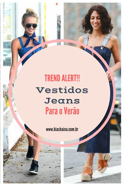 Trend Alert - Vestido Jeans para o verão