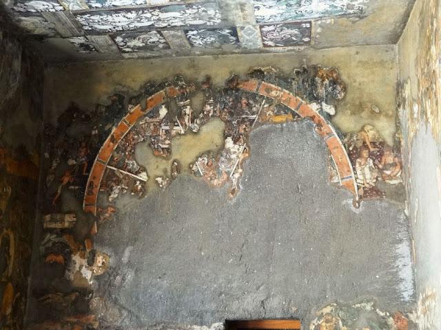 Ajanta cave 17 painting - porch  left wall - Samsara Chakra