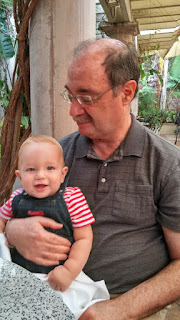 Lev Andrew Charles Manski and his grandpa Charles Manski