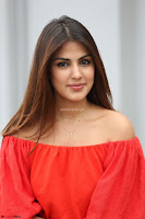 Rhea Chakraborty in Red Crop Top and Denim Shorts Spicy Pics ~  Exclusive 330.JPG