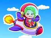 Baby Hazel quiere un cambio de imagen, ella no sabe aún si vestirse de astronauta o piloto. Diviértete jugando con bebé Hazel en un nuevo juego de vestir de Baby Hazel, elige entre un astronauta o piloto y completa un espectacular cambio de imagen con vestidos de moda, accesorios y peinados. Finalmente cambia el diseño de la nave espacial o de un avión.