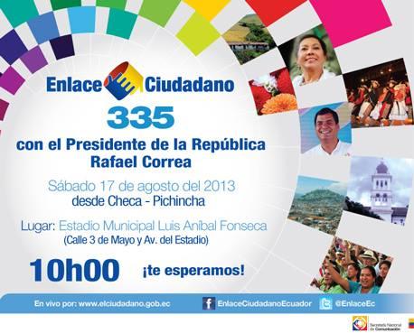 Cadena Sabatina de Correa 335 en Checa