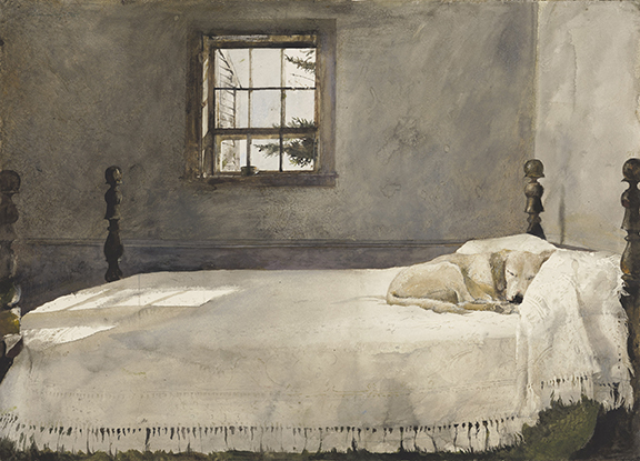 Ideal MASTER BEDROOM watercolor Collection of Victoria Browning Wyeth Andrew Wyeth Artists Rights Society ARS NY