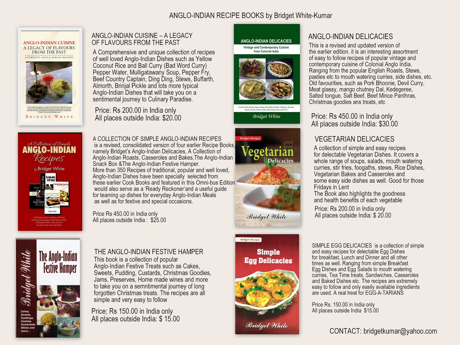 Anglo indian food by bridget white kumar 091017 bridget white anglo indian recipe books forumfinder Images