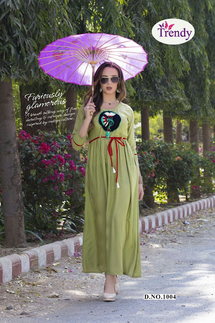 Trendy Casino Rayon Indo western Gown buy wholesale