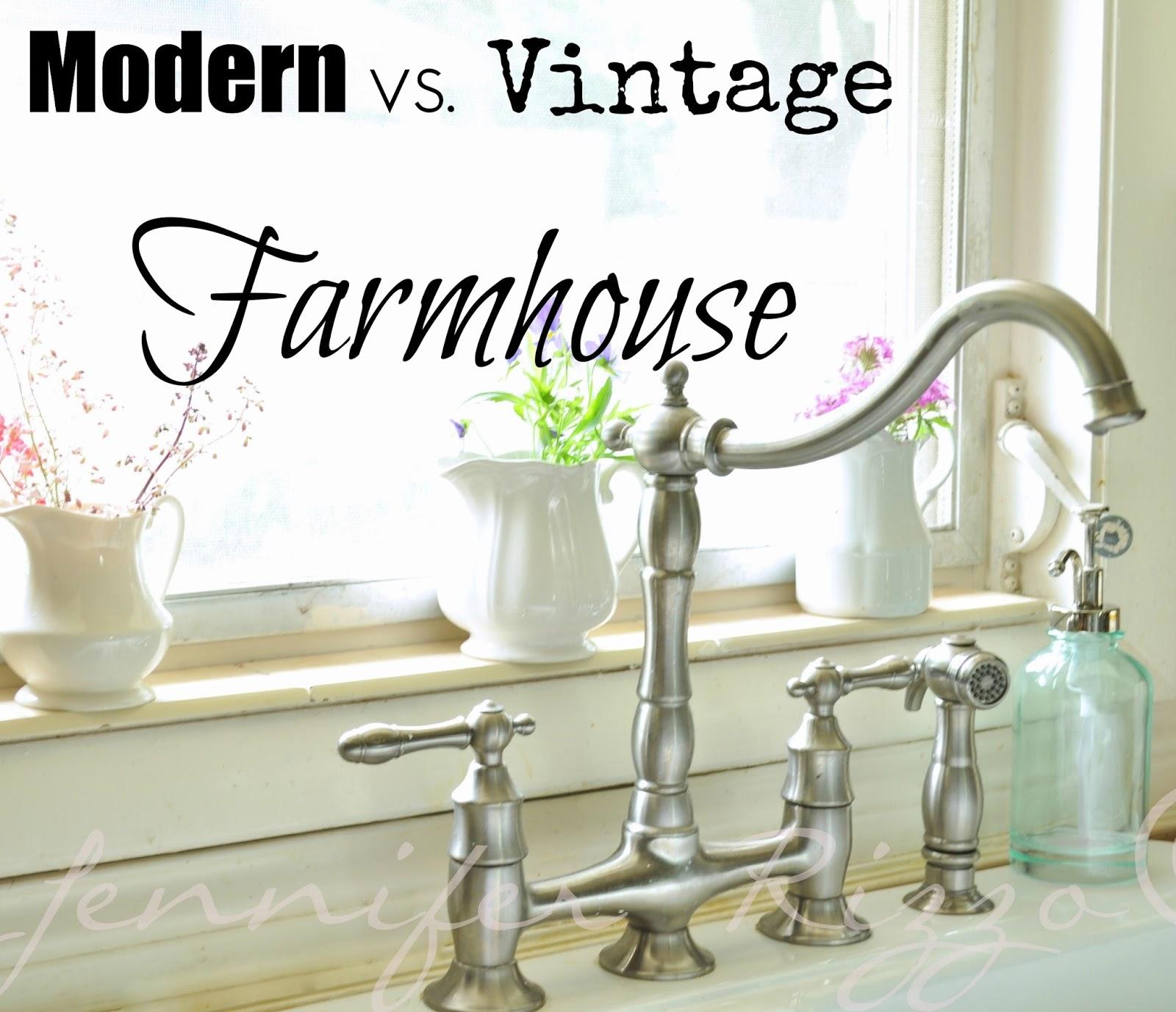 modern vs vintage farmhouse farmhouse faucet kitchen The difference between modern vs vintage farmhouse