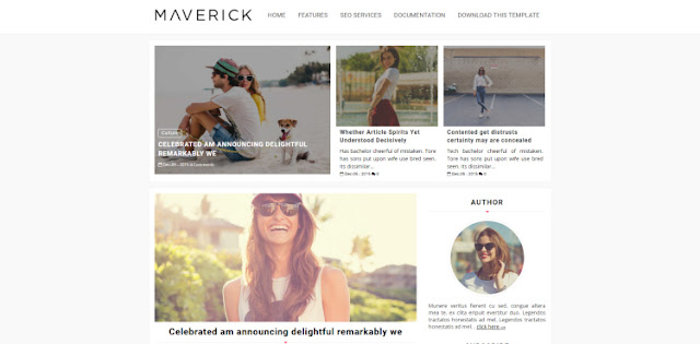maverick fashion blogger template 2017