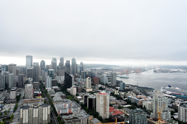 View of Seattle, Washington from the Space Needle