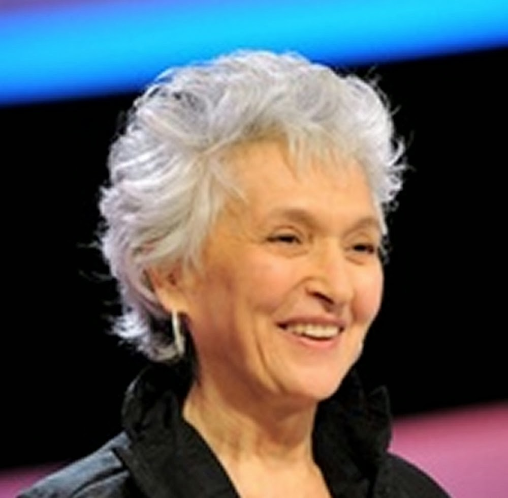 beauty granny with short hairstyles - women over 40