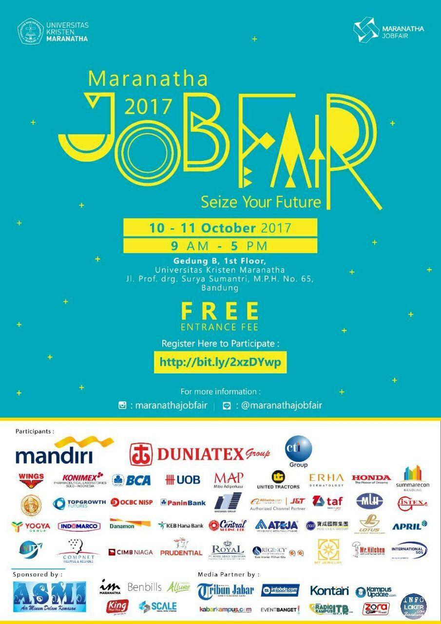 Jobfair Maranatha 10 - 11 Oktober 2017 - Info Lowongan