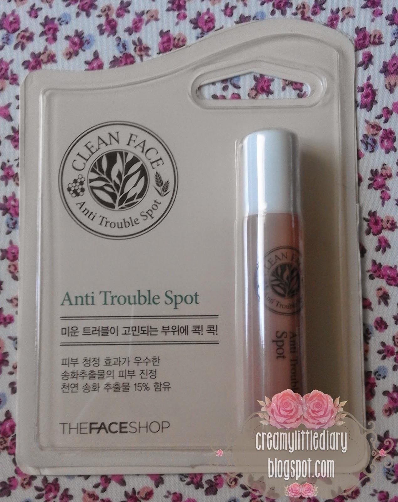 Review : Hilangkan Jerawat Dengan The Face Shop Clean Face Anti Trouble Spot