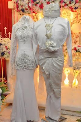 Contoh sepasang baju pengantin muslim modern