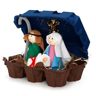 Atividades DIY para as férias de Natal - Presépio | Criança