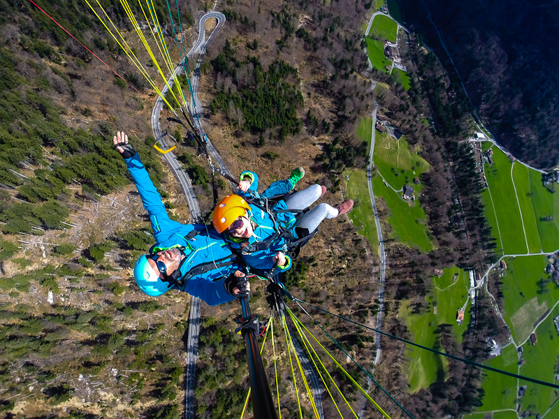 Paragliding photographs in interlaken switzerland