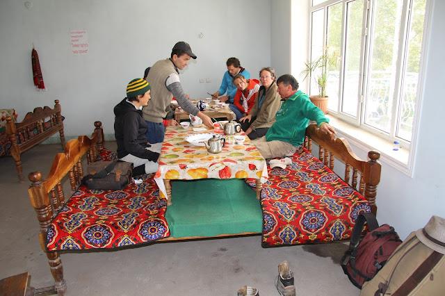 Kirghizistan, Arslanbob, Hayat, chaïkhana Soy Buyi, tapchane, tapshan, © L. Gigout, 2012