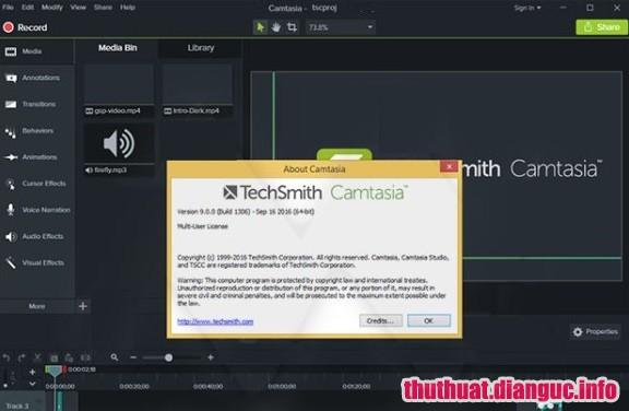 Download Camtasia Studio 2018.0.7 Build 4045 Full Cr@ck – Phần mềm chỉnh sửa video chuyên nghiệp