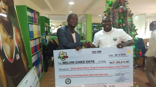 Melvin Chike Ekpe Wins ₦27.3M With ₦100 At Surebet247