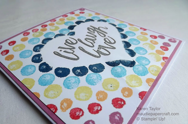 Stampin' Up! Balloon Builders meets Layering Love