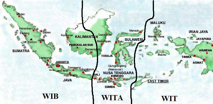 Lentera Geografi Pembagian Waktu Di Wilayah Indonesia