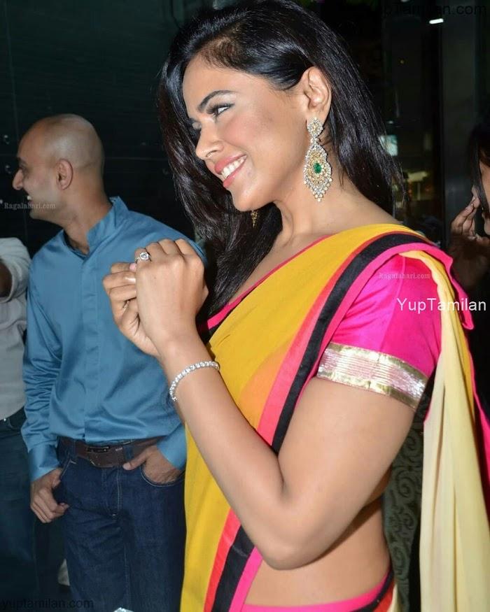 Sameera Reddy in Saree Photos-Hot Pictures