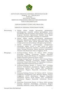 Juknis BOS Madrasah 2019 (MI, MTs dan MA)