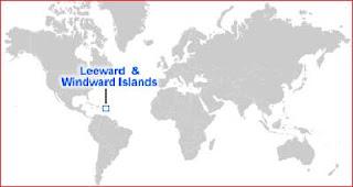 Gambar Peta letak Kepulauan Leeward