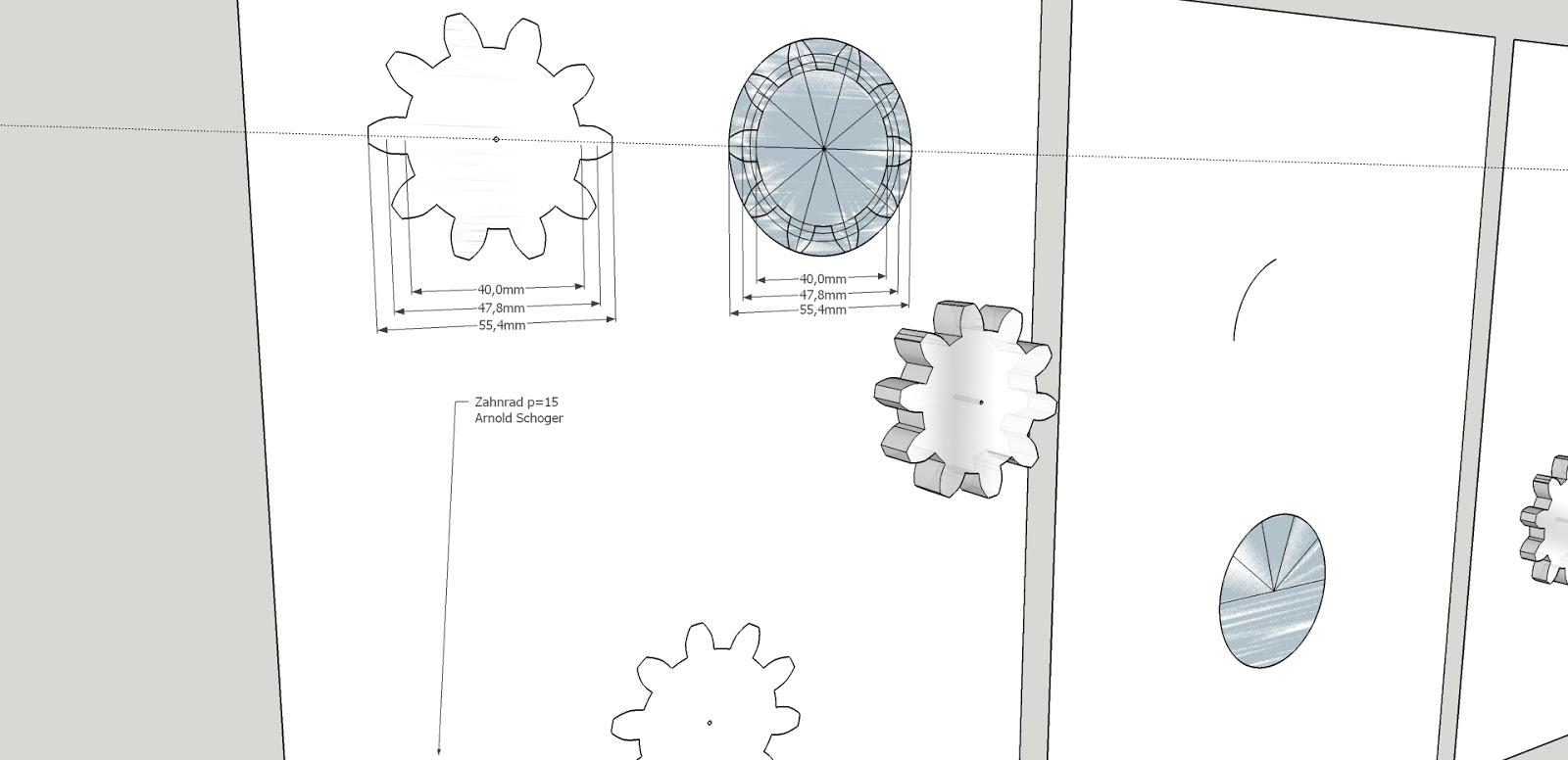 zahnr der mit sketchup make selber zeichen gear draw. Black Bedroom Furniture Sets. Home Design Ideas
