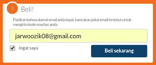 Beli & memasukkan alamat Gmail