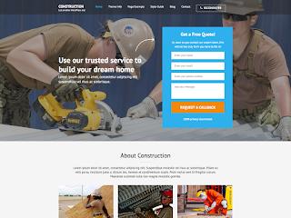 Construction Landing Page тема WordPress