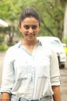 Rakul Preet Singh in Jeans and White Shirt At Jaya Janaki Nayaka le Logo Launch ~  Exclusive 055.JPG