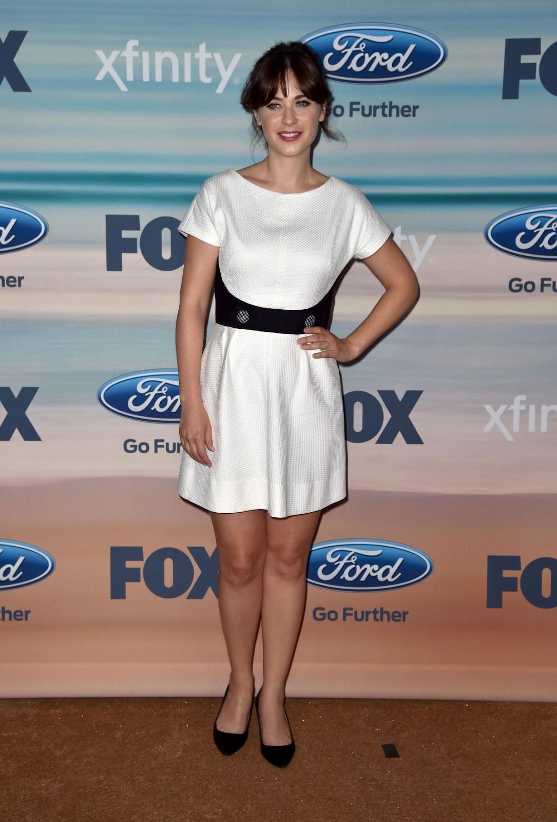 Full HQ Photos of Zooey Deschanel at Fox Fall ECO Casino 2014 Party in Santa Monica