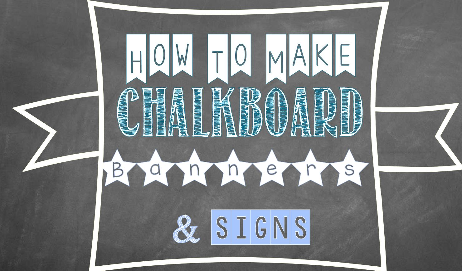how to make a chalkboard graphic