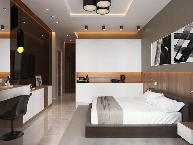 фото дизайна спального места в квартире студио