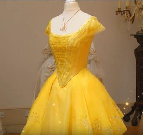 Vestido amarelo A bela e a fera 2017
