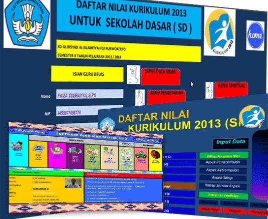 Kumpulan Raport Kurikulum 2013 dan KTSP SD/MI|SMP/MTs|SMA/MA Terbaru 2017