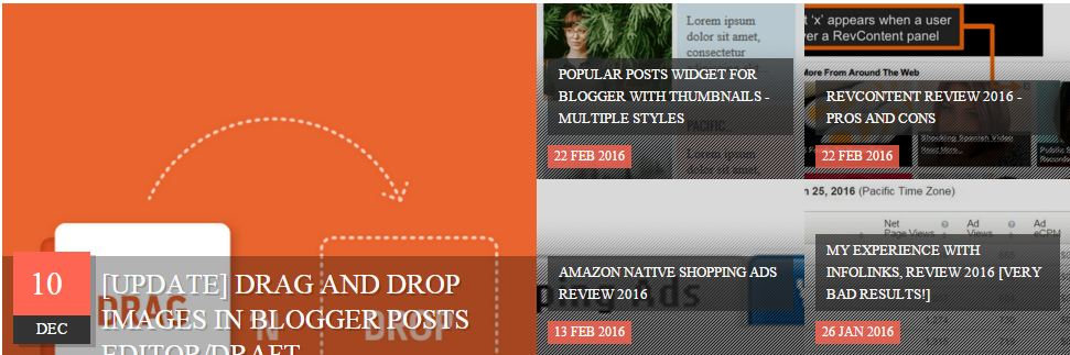 Fully automated Recent post slider widget for Blogger