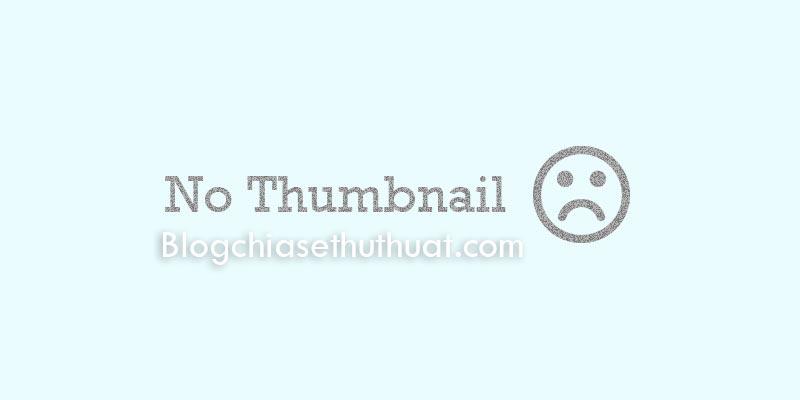 Cách tự động lấy ảnh bên ngoài làm ảnh thumbnail trong Blogspot