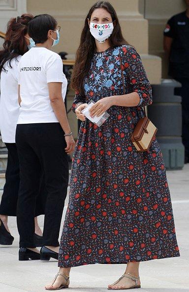 Princess Charlene in Louis Vuitton dress, Tatiana Santo Domingo wore a floral dress by Muzungu Sister