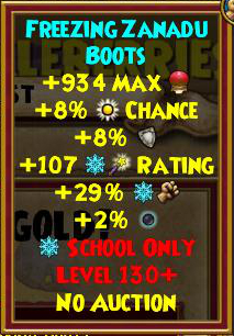 Wizard101 Level 130+ Gear