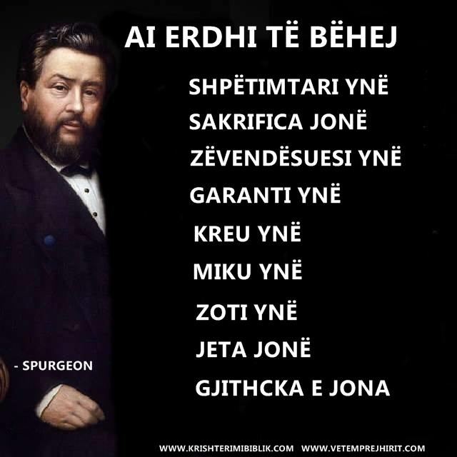 Jezu Krishti, shpetimtari, Spurgeon shqip, sperxhen, thenia biblike te krishtera,