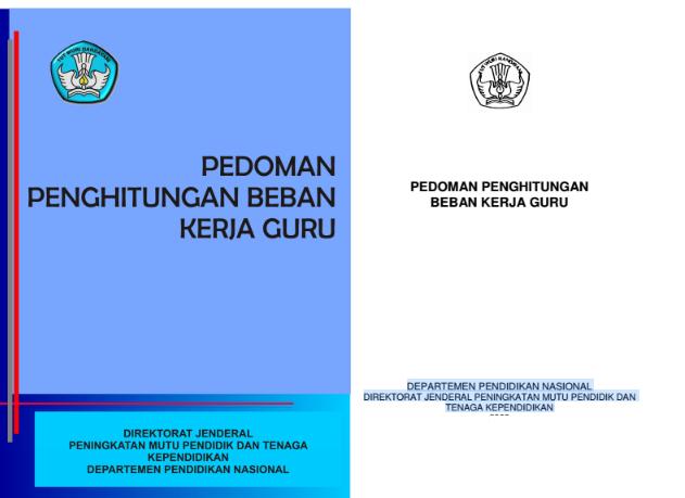 Cover Juknis Pedoman Penghitungan Beban Kerja Guru 24 Jam Pdf