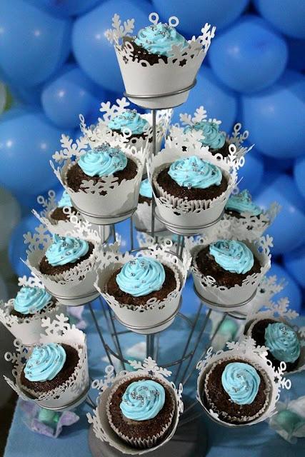 Cupcake frozen para Festa