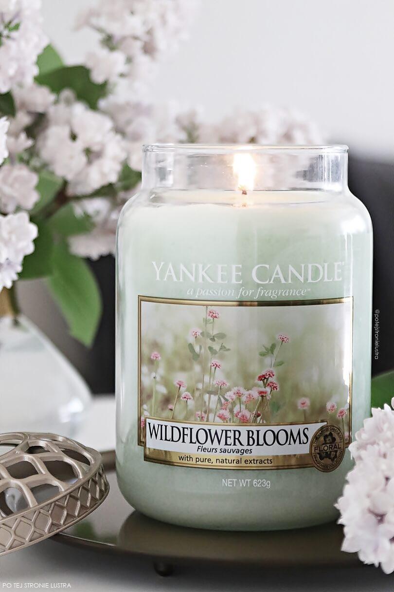 świeca yankee candle wildflower blooms i kwitnący bez