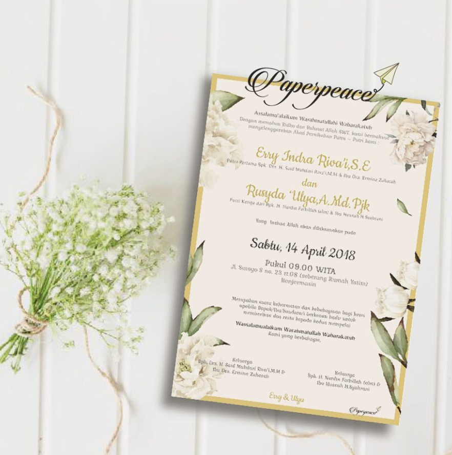 Modern Javanese Wedding E Invitation