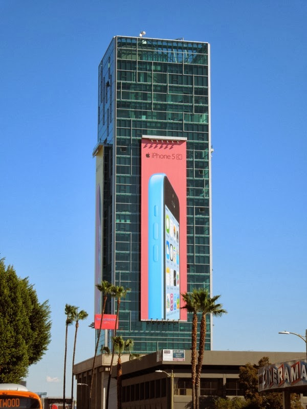 Giant iPhone 5c billboard 2014
