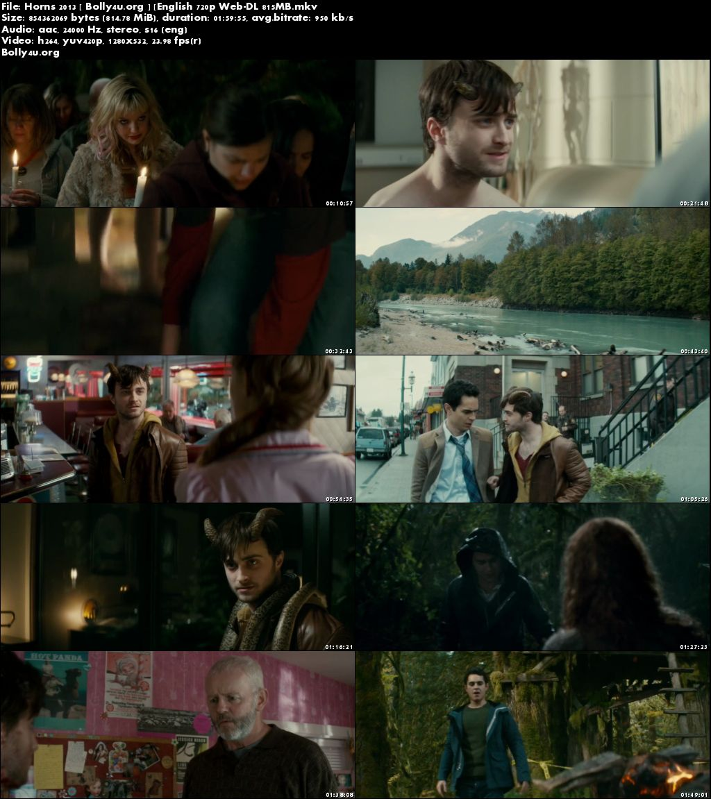 Horns 2013 WEB-DL 350Mb Full English Movie Download 480p