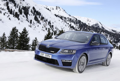 New 2017 Skoda Octavia vRS in maounten Hd Photos